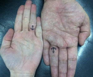 anchors, hands, and ink image