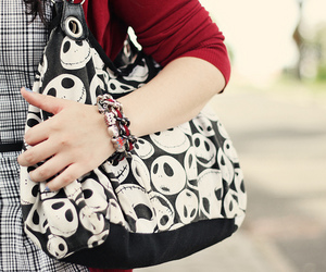 bag, bracelet, and cardigan image