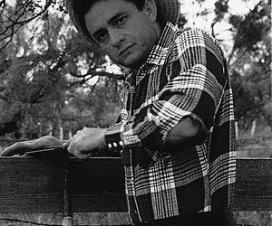 Johnny Cash, the man in black, and JR image