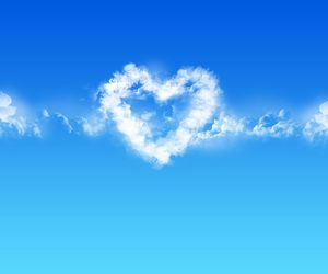blue, cute, and heart image