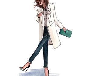 girl, draw, and fashion image