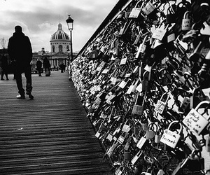 padlock, true love, and black and white image