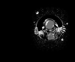 amazing, astronaut, and black and white image