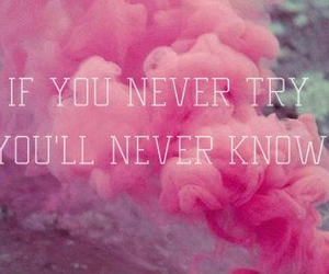 try, pink, and never image