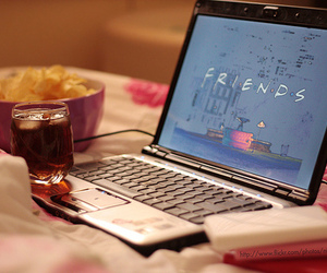 friends, laptop, and f.r.i.e.n.d.s image