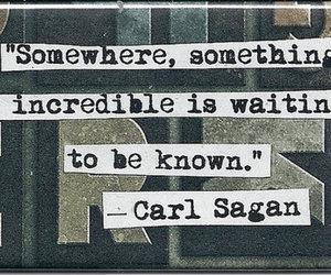quote, carl sagan, and text image