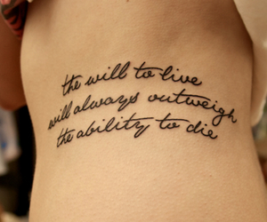 tattoo, quote, and live image