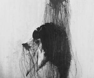 girl, art, and dark image