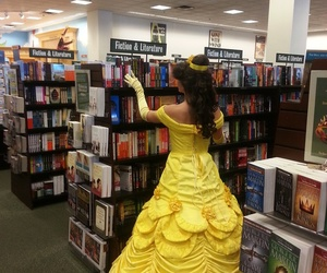 belle, books, and library image
