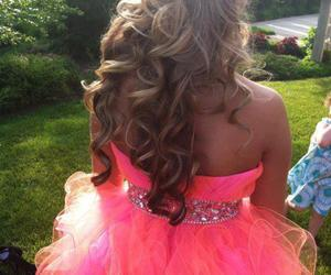 hair, dress, and pink image