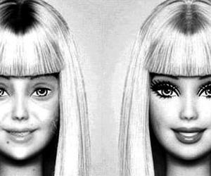 barbie, fake, and makeup image