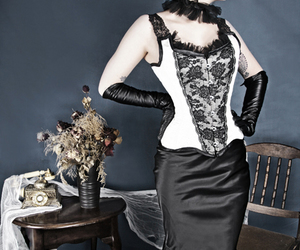 girl, beauty, and corset image