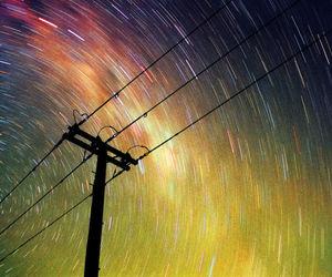 stars, light, and long exposure image