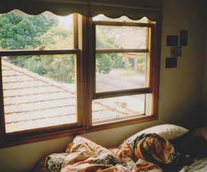 window, bed, and vintage image