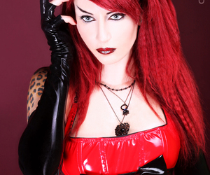 beauty, red, and redhead image