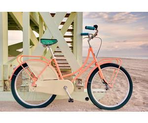 beach, bike, and girly image
