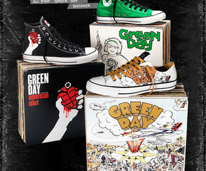 green day, converse, and american idiot image