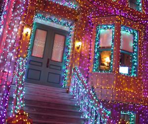 light, christmas, and house image