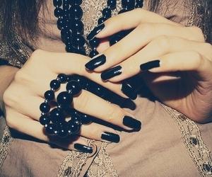 nails, black, and black nails image