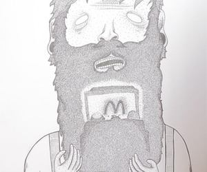 art, awesome, and beard image