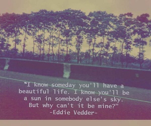 quote, eddie vedder, and life image
