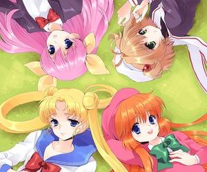 anime, sailor moon, and wedding peach image