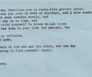 quote, text, and water image