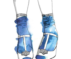 shoes, blue, and drawing image