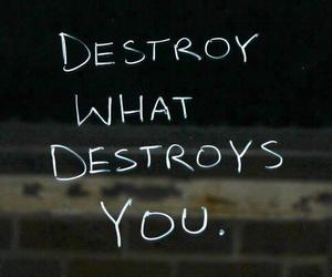 destroy, quotes, and text image