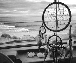 Dream, beach, and dreamcatcher image