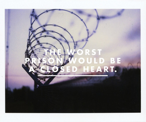 prison, heart, and quote image
