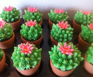 cupcake, cactus, and food image