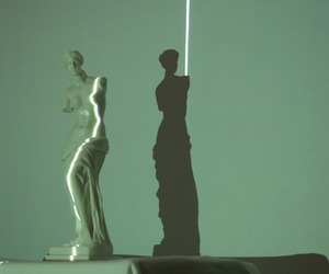 art, green, and statue image