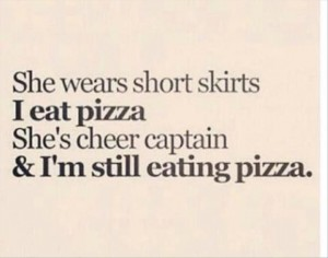pizza, funny quotes shared by Isha Saxena on We Heart It