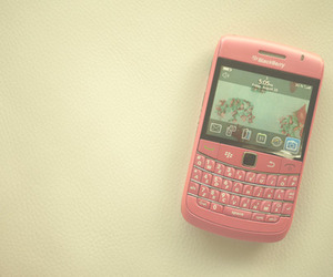 pink, blackberry, and phone image