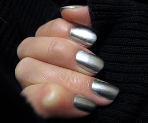 nails, fashion, and silver image