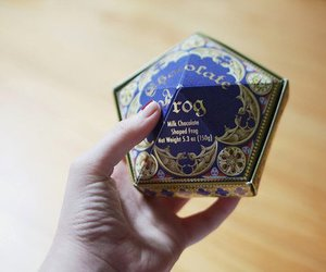 harry potter, photography, and chocolate frog image
