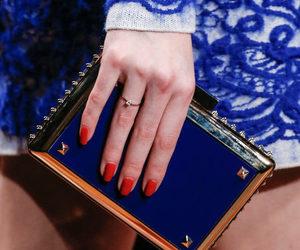bag, deep blue, and Valentino image