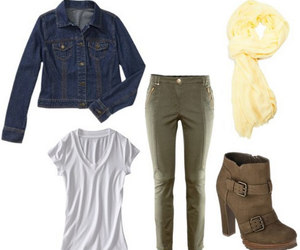autumn, boots, and denim image