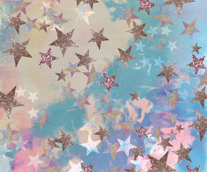stars, blue, and pastel image