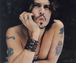 johnny depp, sexy, and tattoo image