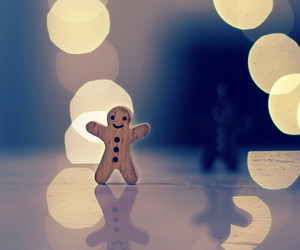 lights, gingerbread, and gingerbread man image