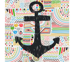 anchor, colors, and cute image