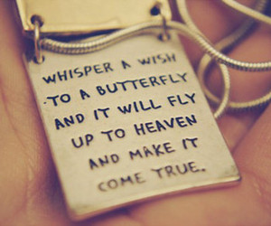 wish, butterfly, and quote image