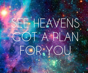 quote, galaxy, and heaven image