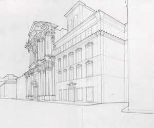 architecture, building, and drawings image
