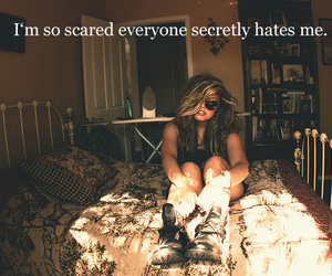 girl, hate, and scared image