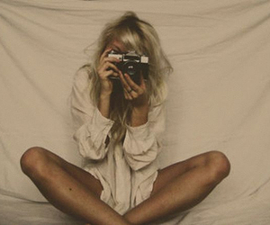 blonde, camera, and photography image