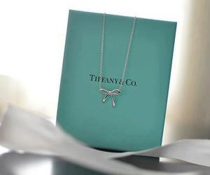 bow, tiffany, and necklase image