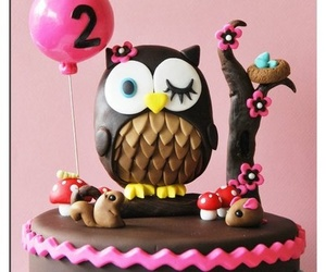 cake and owl image